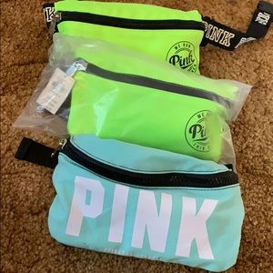 Pink brand fanny packs